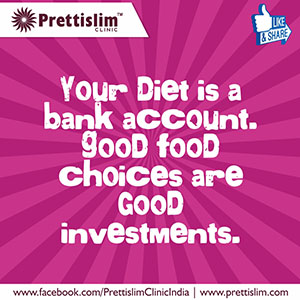 Your diet is a bank account. Good food choices are good investments.
