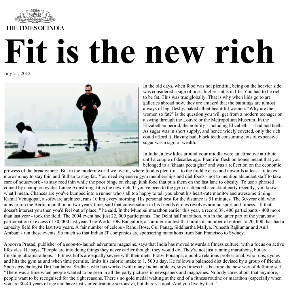 Fit is the new rich