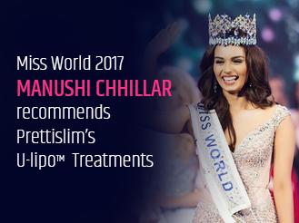 Miss World 2017 Manushi Chhillar recommends Prettislim's U-lipo Treatments